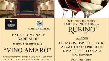 Vino Amaro: un Negroamaro per il film di Pezzuto