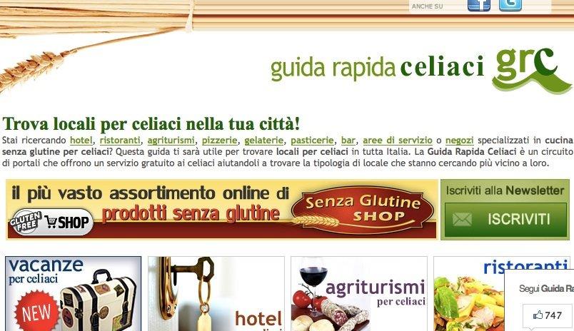 Guida Rapida Celiaci: il salotto on line del Gluten Free