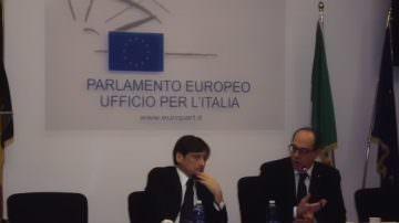 Roma: Stefàno in conferenza stampa con l'onorevole Paolo De Castro