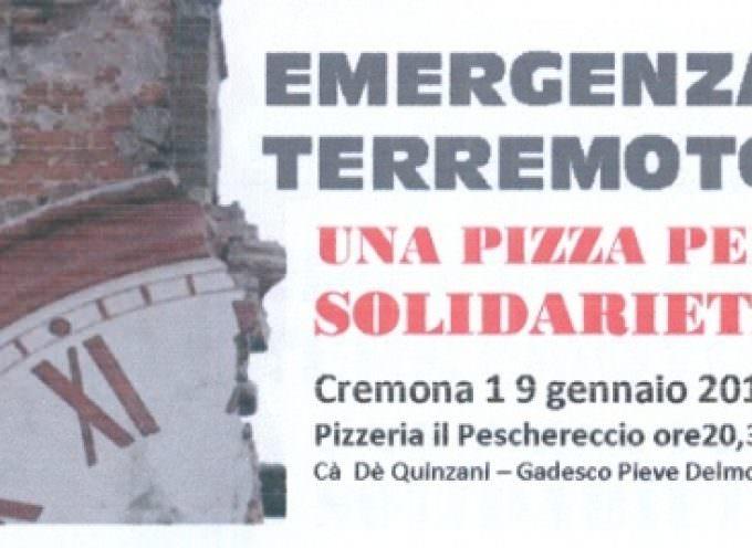 Gadesco Pieve Delmona (CR), pizza solidale contro il terremoto