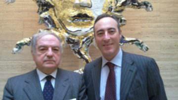 Giulio Gallera incontra il presidente di Assoedilizia Achille Colombo Clerici