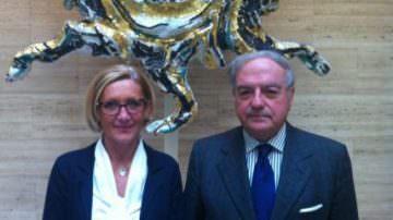 Senatore Emanuela Baio Dossi incontra Achille Colombo Clerici presidente di Assoedilizia e di Federlombarda Edilizia