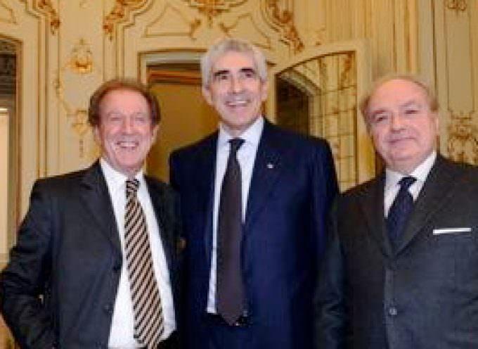 Pier Ferdinando Casini incontra a Milano Achille Colombo Clerici presidente di Assoedilizia e di Federlombarda Edilizia