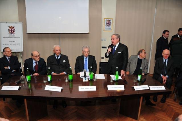 Mario Monti incontra in Assoedilizia il mondo della proprietà edilizia e del settore immobiliare-edilizio lombardo ed italiano