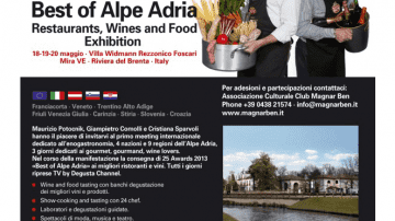 18/19/20 maggio: BEST OF ALPE ADRIA, Restaurants, Wines & Food Exibition