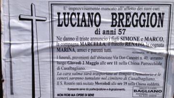 Luciano Breggion, titolare Acanto Astucci imprenditore, morto improvvisamente a 57 anni