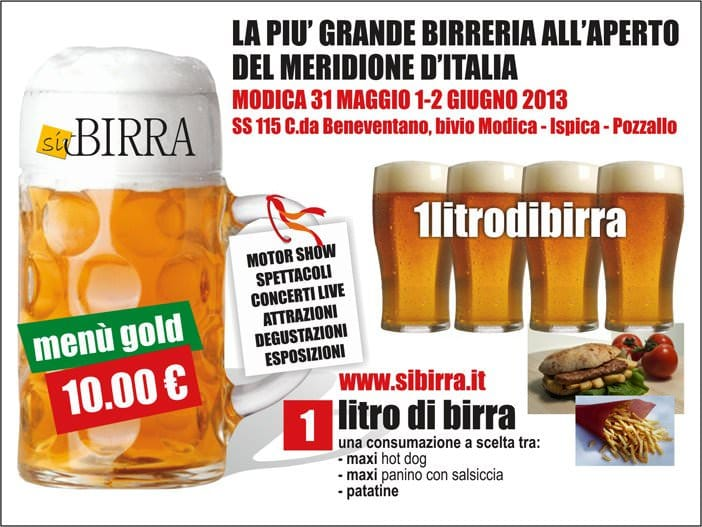 31 maggio: Si Birra arriva a Modica