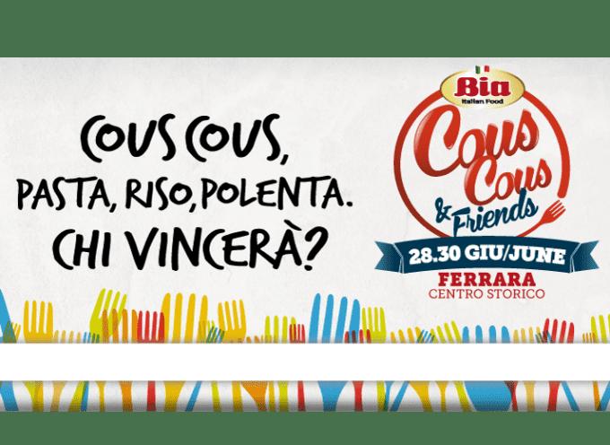 """Ferrara: """"Bia cous cous & friends"""", da venerdì 28 a domenica 30 giugno"""
