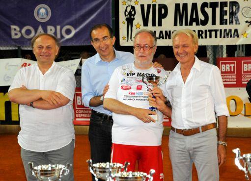 Al VIP Masters di tennis di Milano Marittima c'era anche Raspelli con 30 kg in meno