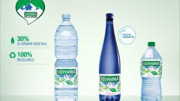 Levissima, ecco la bottiglia di plastica vegetale