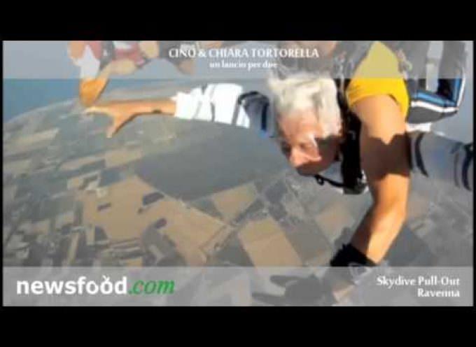 Cino e Chiara Tortorella prima e dopo il lancio col paracadute: Intervista esclusiva (video)