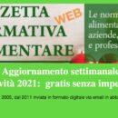 Gazzetta Normativa Alimentare Web – Via email  2021