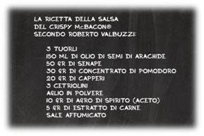 La ricetta della salsa del Crispy McBacon