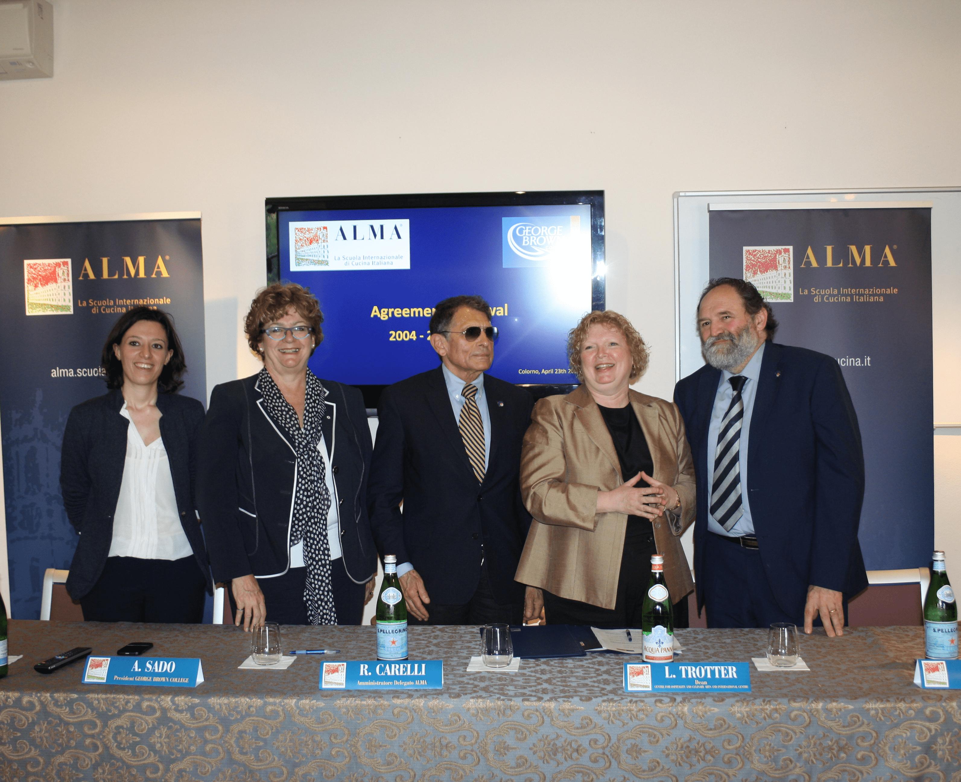 Alma rinnova la collaborazione con il George Brown College di Toronto