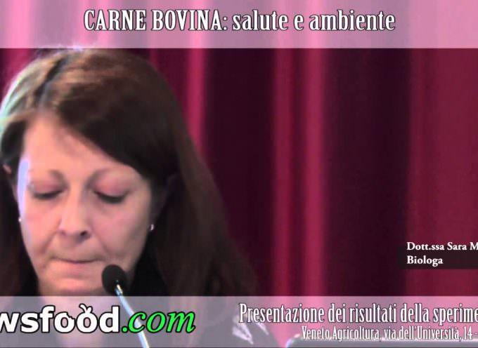 Sara Mantovani, biologa, al Convegno CARNE BOVINA: salute e ambiente