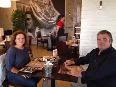 I primi due clienti al Rodhouse di capriate (BG) all'inaugurazione dell'8 aprile 2014