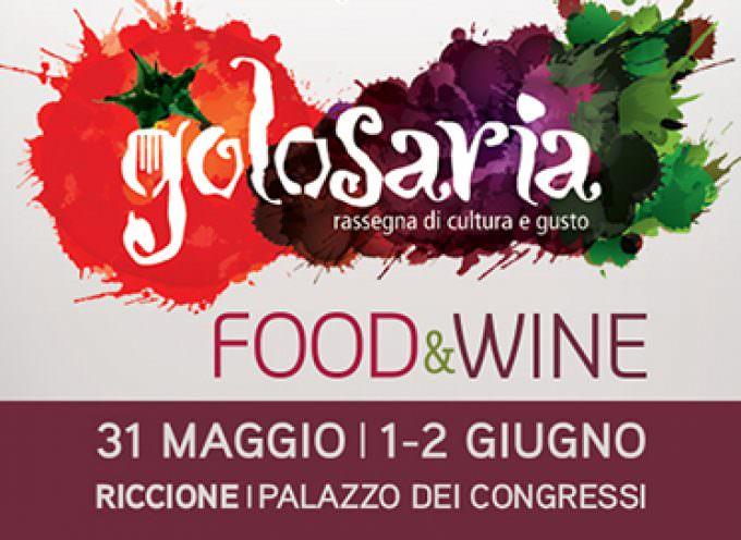 """""""Golosaria"""", in programma dal 31 maggio al 2 giugno a Riccione"""
