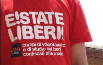 Don Luigi Ciotti alla presentazione di Estate Liberi 2104, i campi di volontariato e formazione sui beni confiscati alle mafie