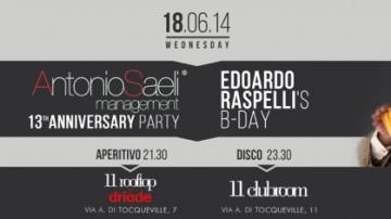 Mercoledì 18 giugno, Milano: Edoardo Raspelli festeggerà il suo compleanno all'Eleven Rooftop
