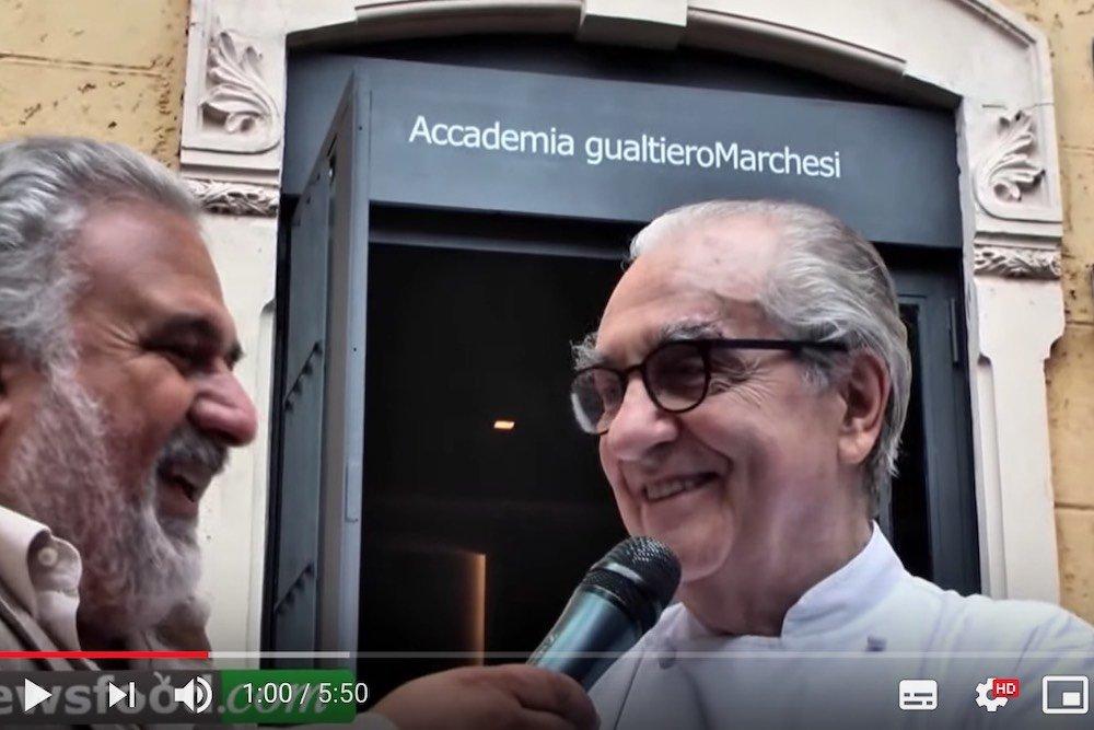 Intervista a Gualtiero Marchesi: apre l'Accademia di via Bonvesin de la Riva – (Video)