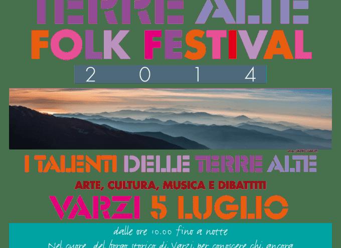 """Sabato 5 luglio Varzi ospiterà il """"Terre Alte Folk Festival"""""""