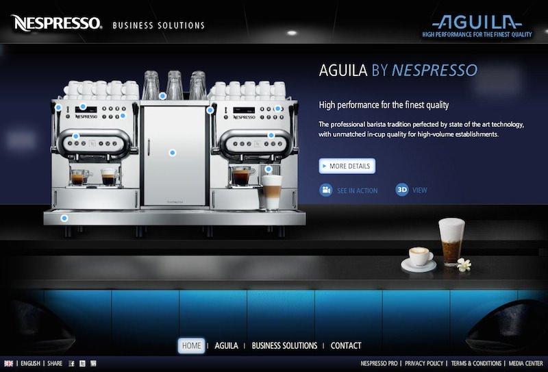 Nespresso presenta Aguila: dalla passione alla perfezione professionale anche in casa