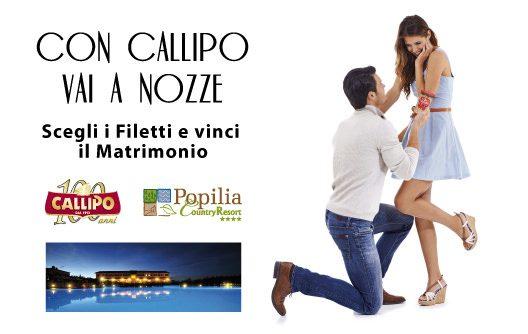 """""""Con Callipo vai a nozze"""", il concorso ideato dalla Giacinto Callipo Conserve Alimentari SpA"""