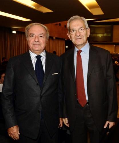 Achille Colombo Clerici con Luciano Violante