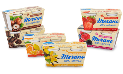 Latteria Merano presenta la sua punta di diamante: lo Yogurt 100% Naturale
