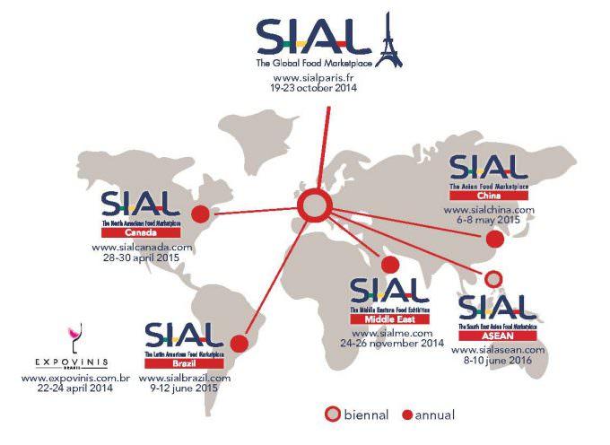 Paris Nord Villepinte – Francia: World Tour by SIAL dal 19 al 23 ottobre 2014