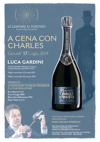 Serata Champagne Charles Heidsieck con Luca Gardini