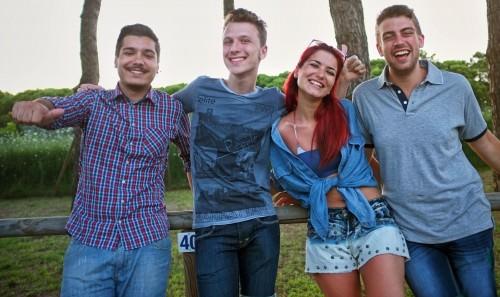 Francesco, Nicola, Antonio e Marica ospiti al Cesenatico Camping Village