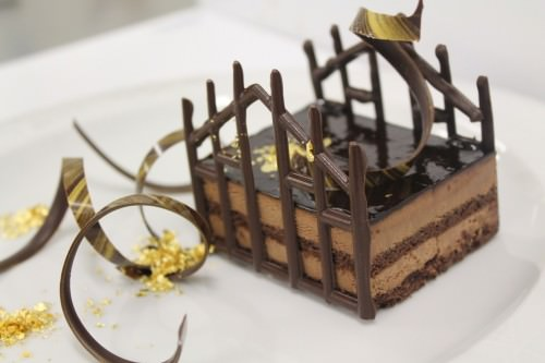 Chocolate Duomo Cake low