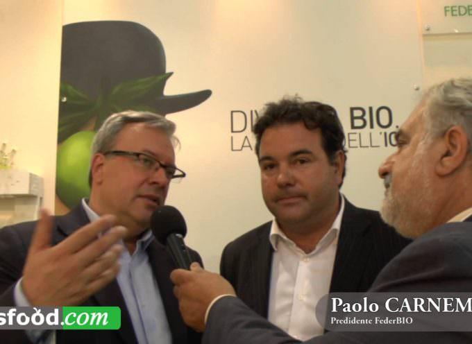 Paolo Carnemolla Presidente FederBIO e Daniele Salvagno Presidente FederDop Olio