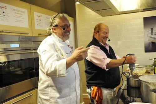 Davide Scabin e Mario Batali