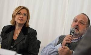 I giornalisti Eleonora Cozzella e Paolo Marchi