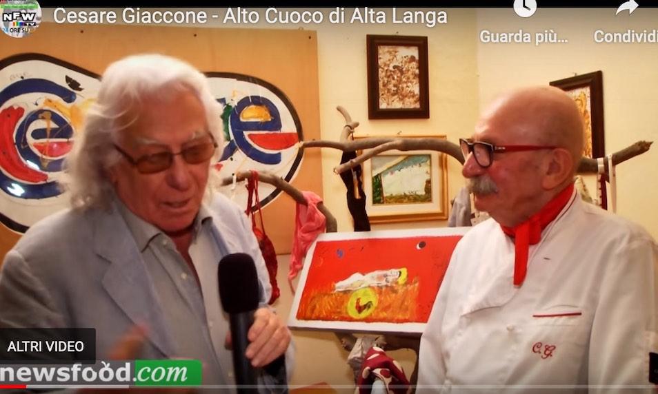 Cesare Giaccone cuoco naif delle Alte Langhe, artista in cucina e sulle tele (Video)