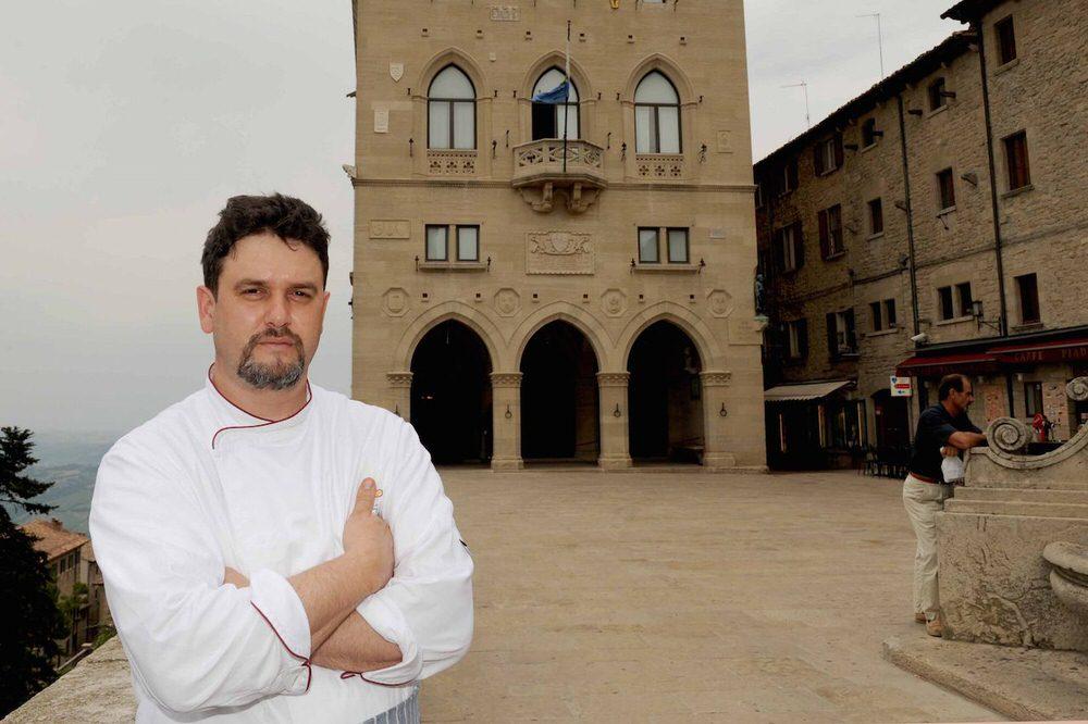 Luigi Sartini chef, e ora anche  comandante del ristorante Righi
