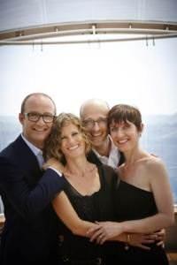 La famiglia Ceretto: da sinistra a destra, Federico, Lisa, Alessandro e Roberta