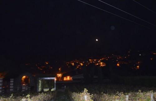 Orsara di Puglia- notturno da Piano Paradiso