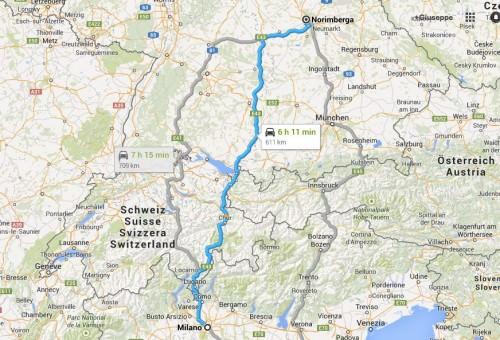 Cartina Italia - Norimberga