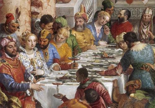 Cena sontuosa rinascimento