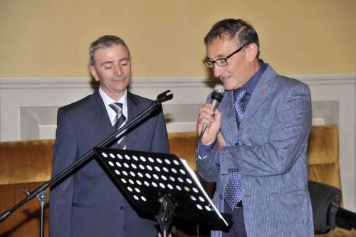 Giovanni Mercadante con il presentatore Renato Borrelli