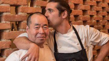 Gli chef del Ristorante Iyo, Haruo Ichikawa e Lorenzo Lavezzari, a Expo Gate con una lezione sul wasabi
