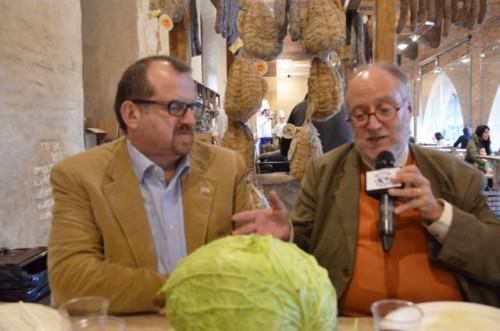 Massimo Spigaroli con Edoardo Raspelli