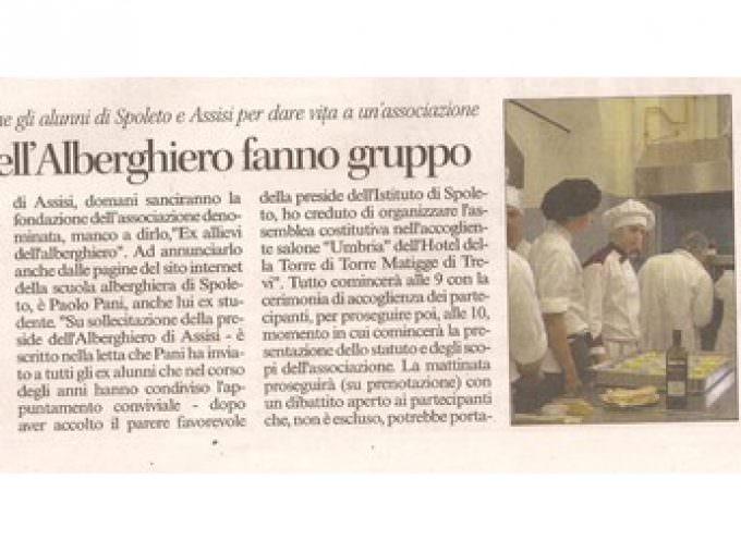 Istituti alberghieri di Spoleto e Assisi: Nasce l'Associazione ex allievi dell'alberghiero