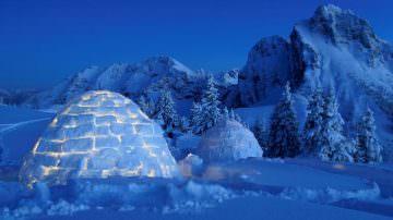 """Dormire in un """"giaciglio"""" fuori dagli schemi? Si, in un igloo"""