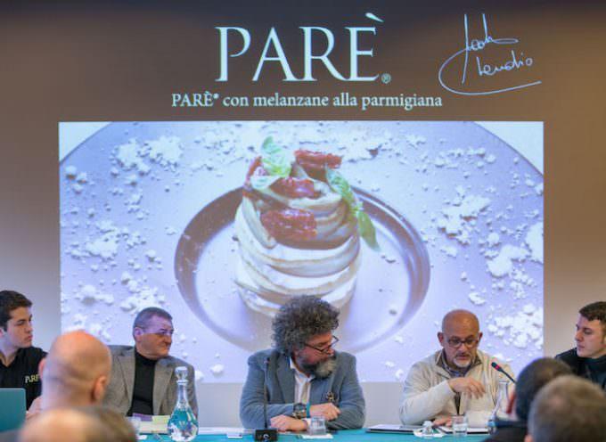 La sfogliatina Parè: Appetizer di Parmigiano Reggiano by Claudio Sadler