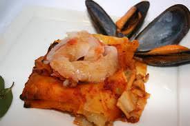Lasagnette di mare crostacei e zafferano