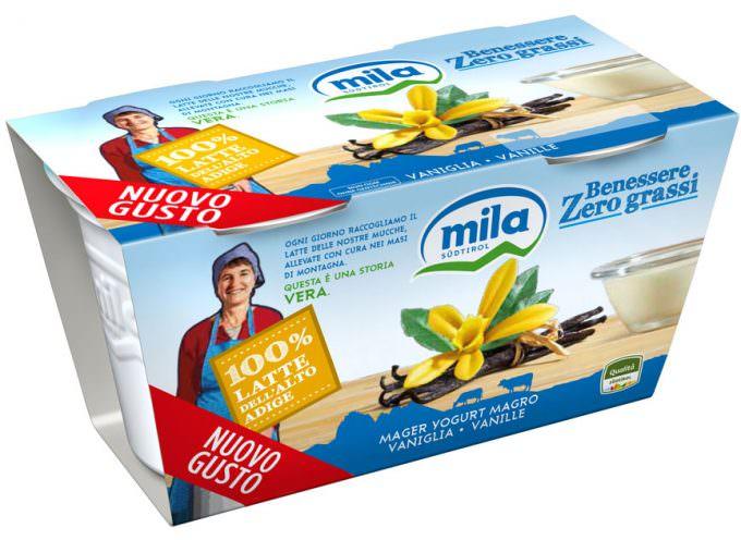 Mila presenta il nuovo yogurt Benessere Zero Grassi